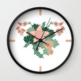 Succulents in Bloom Wall Clock