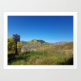 Crested Butte Mountain Ski Runs Art Print