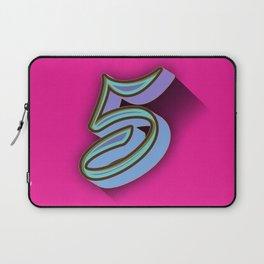 5 on pink Laptop Sleeve