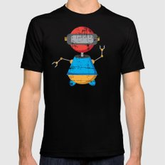 ROBOT SI MEDIUM Mens Fitted Tee Black