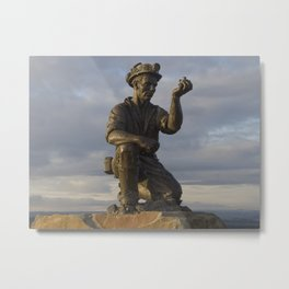 Miner testing for gas Metal Print