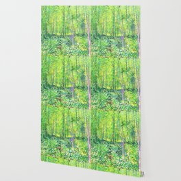 Vincent Van Gogh Trees & UnderwooD Wallpaper