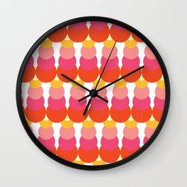 Retro Pattern VI Wall Clock