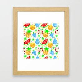 Fiesta de las Frutas Framed Art Print