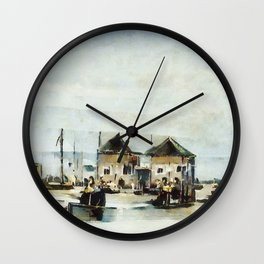 Spring in Clovelly, North Devon Wall Clock
