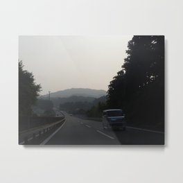 Hakone Mountains Metal Print
