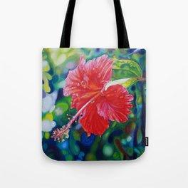 Tropical Hibiscus Tote Bag