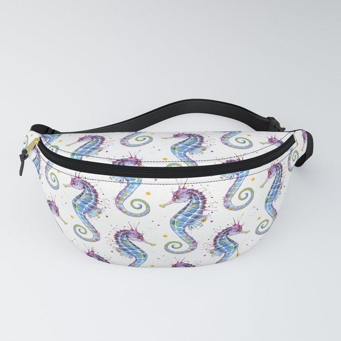 Seahorse: Purple Fanny Pack