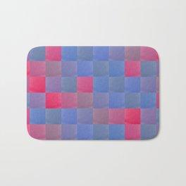 Zig-zag edged felt patchwork Bath Mat