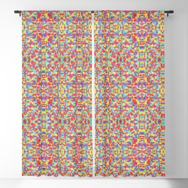 Rainbow Colors Hand Drawn Crayon Doodle Pattern Blackout Curtain