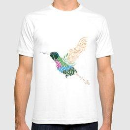 Abstract Hummingbird ~ Garnet-throated Variant T-shirt