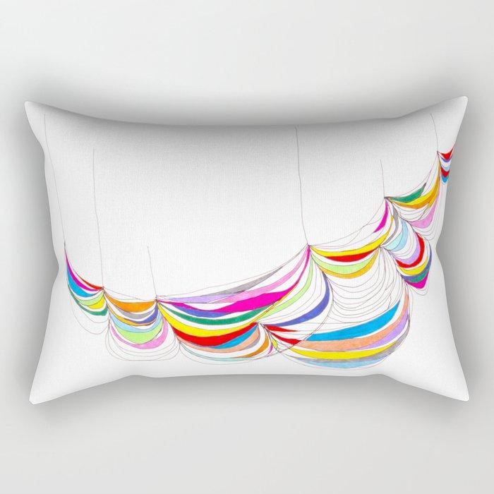 Curvilinear Fabric Grid Form 1 Rectangular Pillow