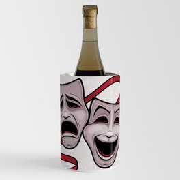 Comedy And Tragedy Theater Masks Wine Chiller