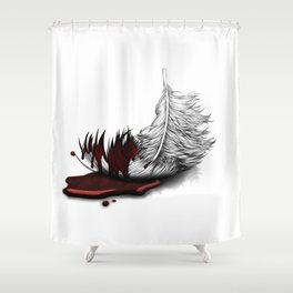 """""""Make haste, make speed, hurry and begone; yet where, and to what purpose?"""" Shower Curtain"""