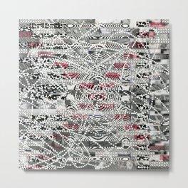 A Virtual Two By Four (P/D3 Glitch Collage Studies) Metal Print