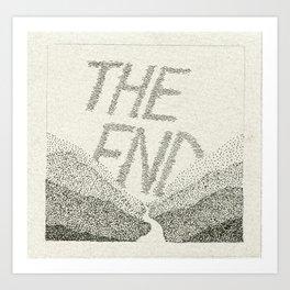 Sky Writing: The End Art Print
