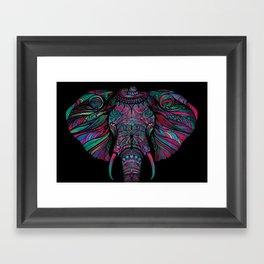 Tiny Hat Elephant Framed Art Print