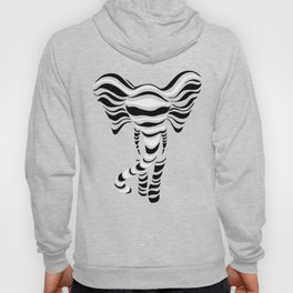 Silhouette of elephant Hoody