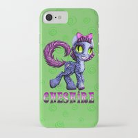 cheshire iPhone & iPod Cases featuring Cheshire by Jolie Bonnette Art