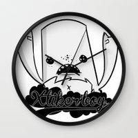 monster Wall Clocks featuring monster by jeff'walker