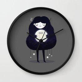 Hug the moon Wall Clock