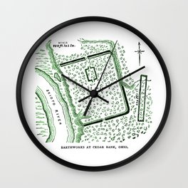 Earthworks at Cedar Bank Wall Clock