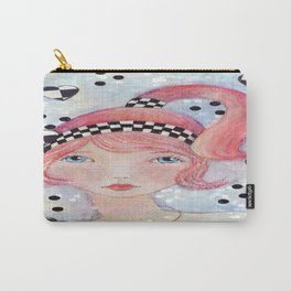 Whimiscal Red Head  Carry-All Pouch