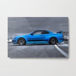 The Blue Ghost Metal Print