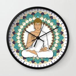 Mandala Abhaya Mudra Buddha Wall Clock