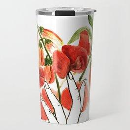 botanical hands Travel Mug