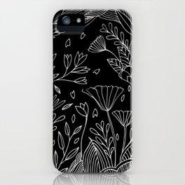 Ocean of Flowers Black Edition iPhone Case