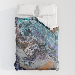 Molten Time (flow art on canvas) Duvet Cover