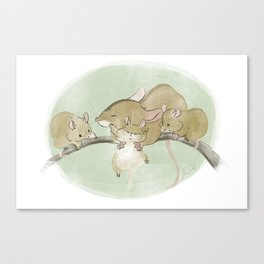Mouse Family  Canvas Print