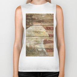 Rustic Bald Eagle Bird American Flag Patriotic Country Art A167 Biker Tank