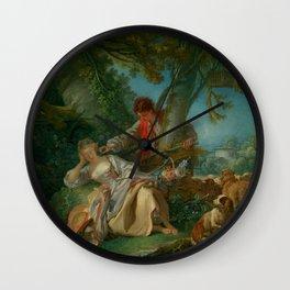 """François Boucher """"The Interrupted Sleep"""" Wall Clock"""