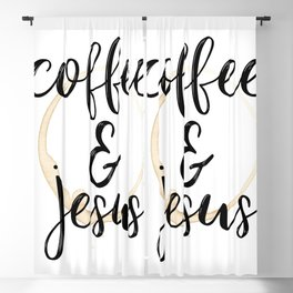 Coffee and Jesus Blackout Curtain