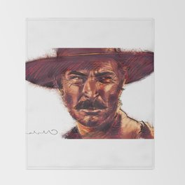 The Bad - Lee Van Cleef Throw Blanket