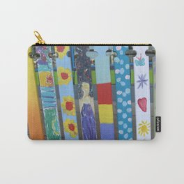 Vintage Fashionable Picket Fence Carry-All Pouch