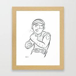 Stowaway Pirate - ink Framed Art Print