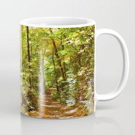 Sunlit Forest in Autumn Coffee Mug