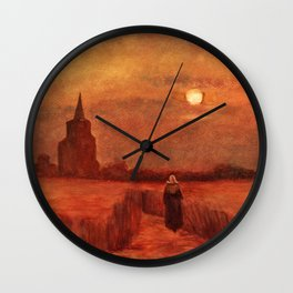 The Old Tower in the Fields by Vincent van Gogh Wall Clock