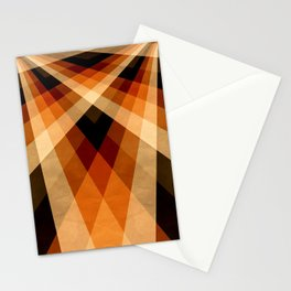 Autumn Groovy Checkerboard Stationery Cards