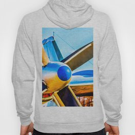 Twin propellers of a vintage aircraft Hoody