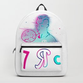 CR7 Glow Pink Blue Style Vector Art T-Shirt & Apparel Backpack