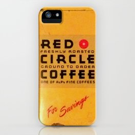 Red Circle Coffee iPhone Case