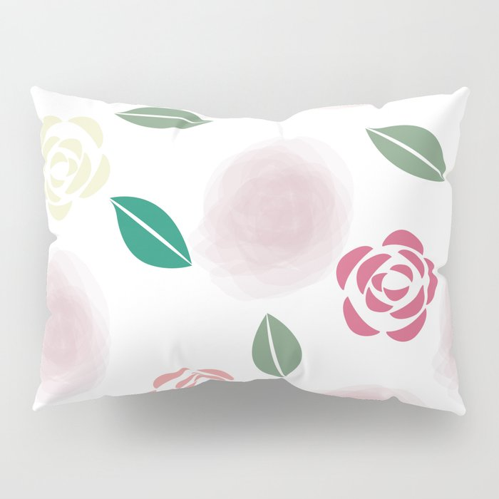 Abstract Roses Pillow Sham