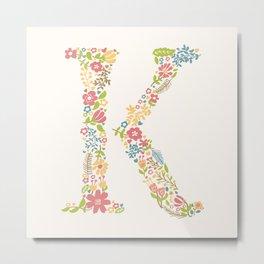 Alphabet K Metal Print