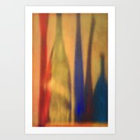 Color Shadows Abstract Reflections in Warm Jewel Tones Art Print