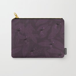 pink flamingos in purlpe Carry-All Pouch