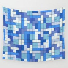 Tetris Camouflage Marine Wall Tapestry